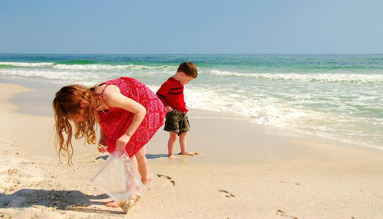 Kids Hunting for Sea Shells (Shutterstock)_preview